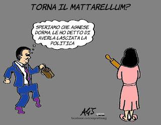 renzi, legge elettorale, mattarellum, assemblea PD, satira, vignetta
