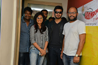 Ekkadiki Pothavu Chinnavada movie Team Spotted at Radio Mirch FM Nanditha Swetha