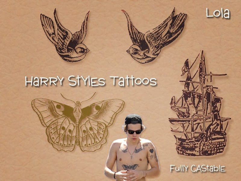 how many tatoos does harry styles have 2014 sims and just