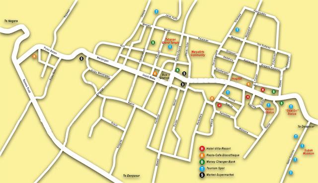 Gambar Peta Wisata Tabanan