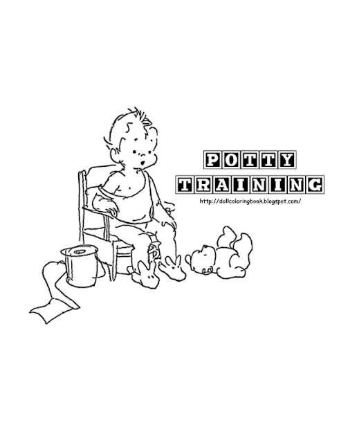 coloring pages dolly on potty - photo#12