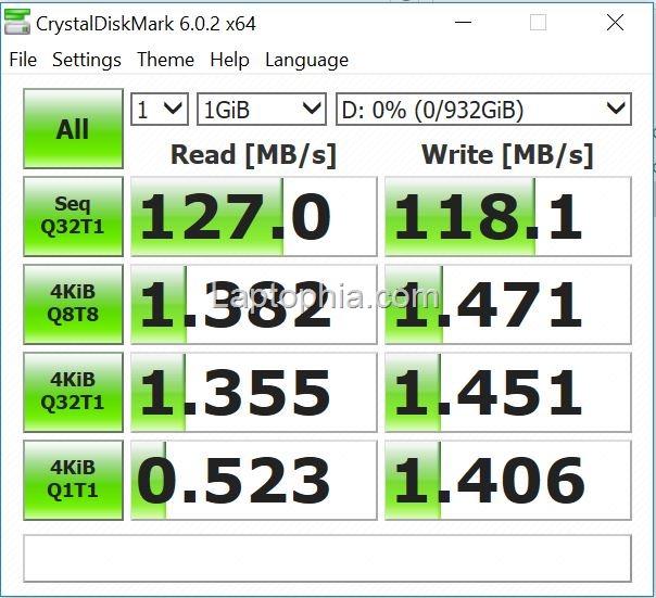 Benchmark CrystalDiskMark 6.0.2 Asus VivoBook S430UN – Hard Disk