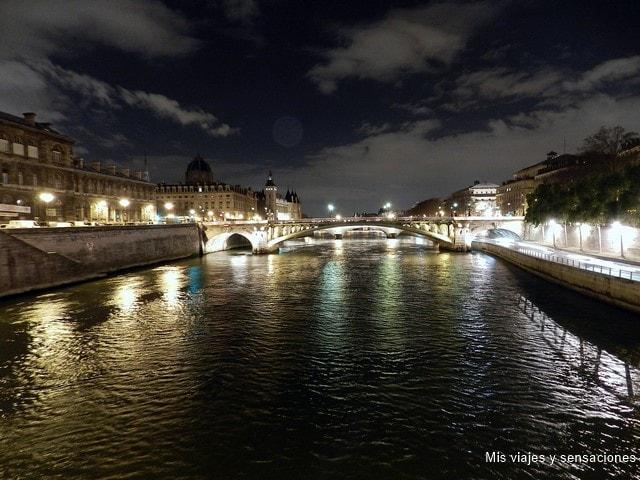 París de noche, Pont d'Arcole, isla de la Cité, París
