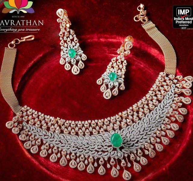 Diamond Chokers by Navrathan Jewellers