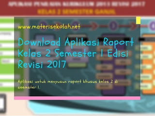 Download Aplikasi Raport Kelas 2 Semester 1 Edisi Revisi 2017