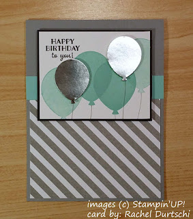 Card with a Balloon Bouquet using images from Stampin'UP!'s Party Pants stamp set