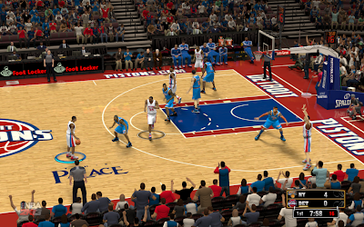 NBA 2K13 Detroit Pistons Court Patches