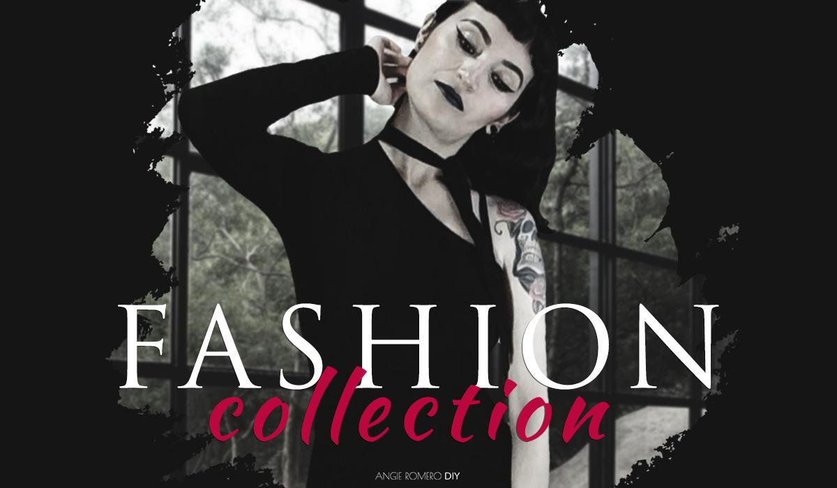 Colección de moda oscura inspirada en tiendas góticas y alternativas