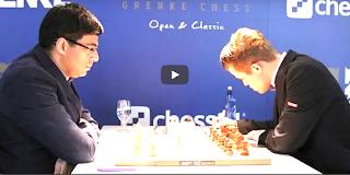 Viswanathan Anand vs Magnus Carlsen || Grenke Chess Classic 2018 R9