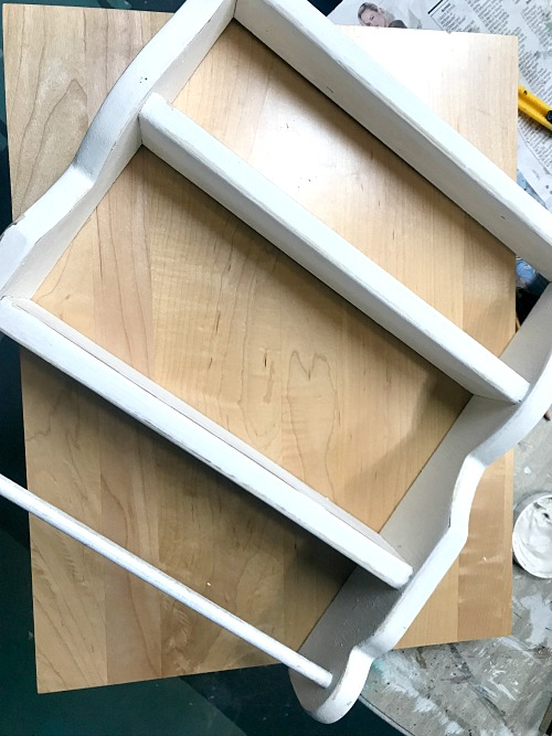 Adding a cabinet door to the back of a shelf