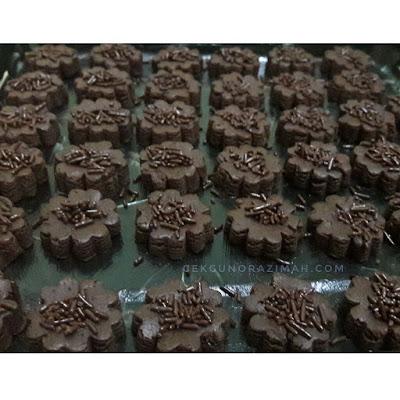 biskut coklat rice, resepi biskut coklat rice, bahan membuat biskut coklat rice, cara membuat biskut coklat rice, resepi biskut coklat rice sukatan cawan
