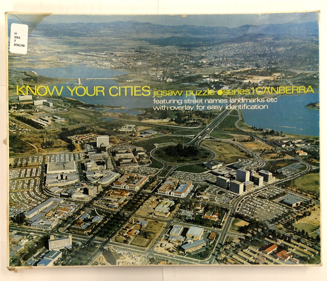 'Know Your Cities' jigsaw puzzle featuring Civic, ca 1970-1981
