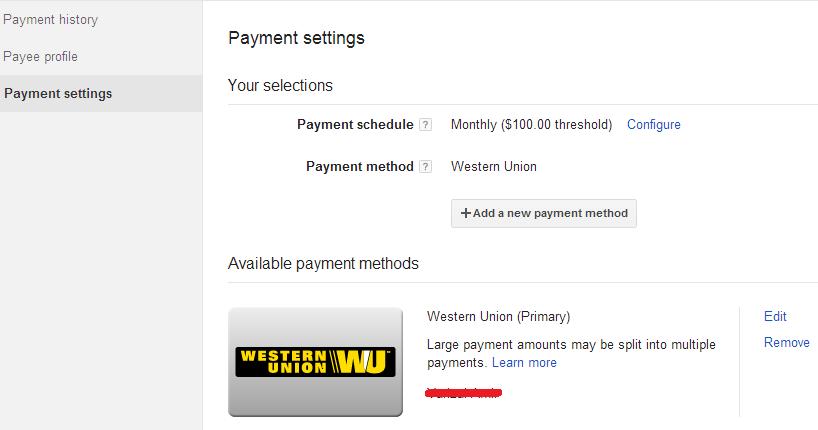 ara Mengubah Settingan Pembayaran Google AdSense Melalui Western Union 7