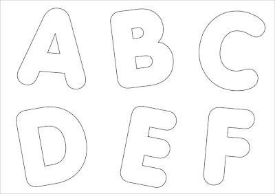 Moldes de Letras - Letras do Alfabeto - ABCDEF