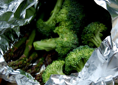 Aluminum Foil Packet of Broccoli - Photo by David Yussen