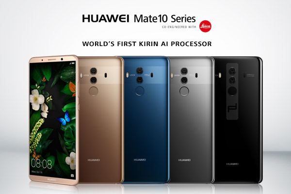 HUAWEI Mate 10, HUAWEI Mate 10 Pro and PORSCHE DESIGN HUAWEI Mate 10 launched