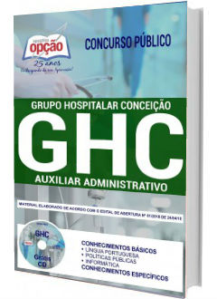 Apostila Concurso GHC-RS 2018 Auxiliar Administrativo