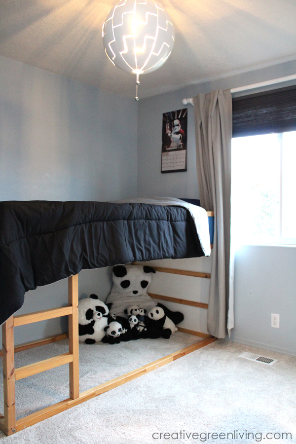 black and white kids room with air.o soft flooring