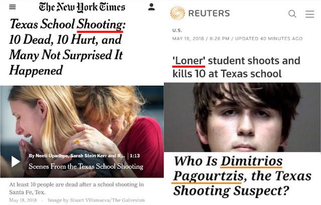 10 Tewas Penembakan di Sekolah Texas, Pelaku Bukan Muslim, Bukan Teroris