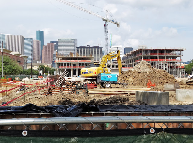 State of the Midtown Superblock end of August 2016 - Downtown Houston Skyline