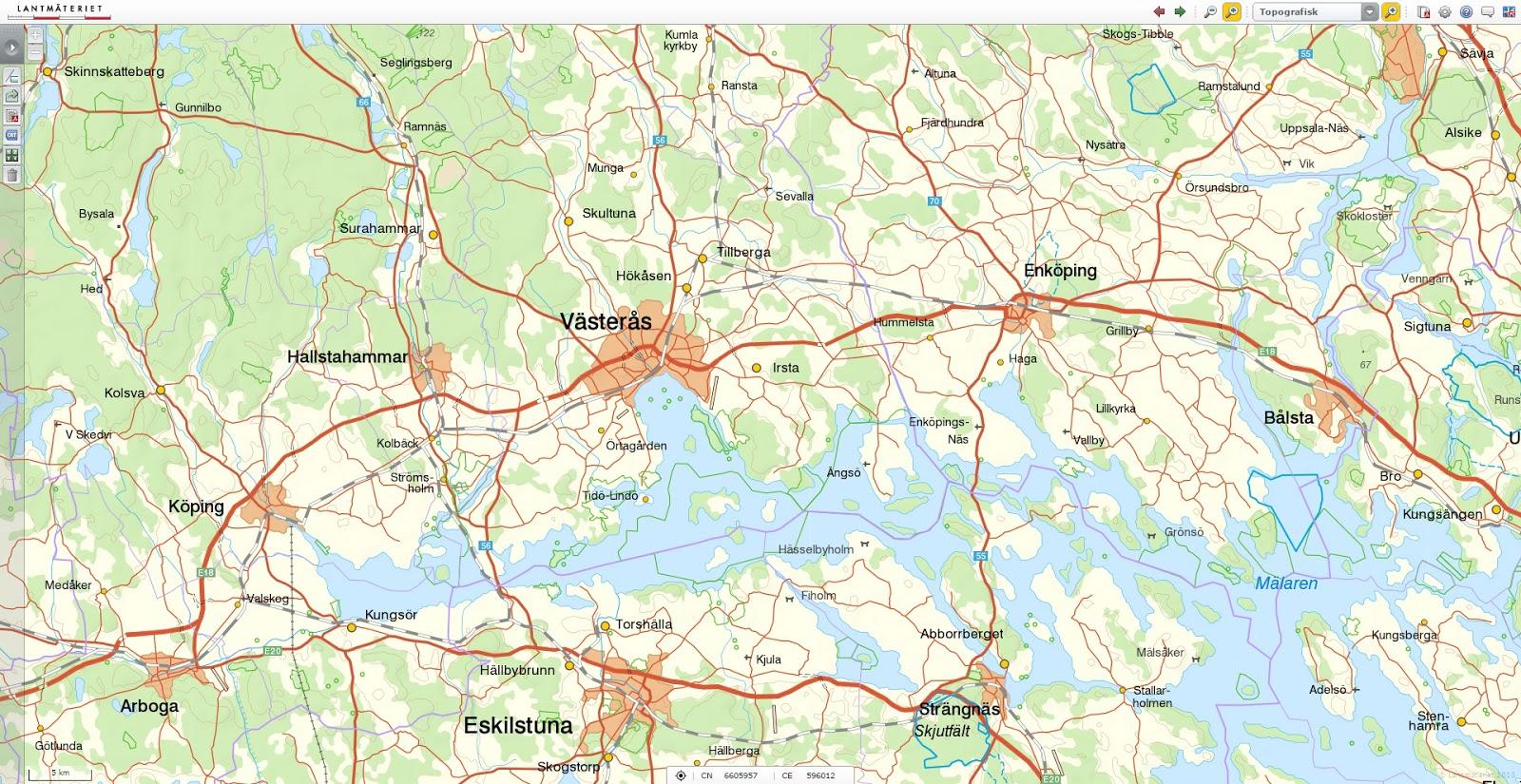map of vaesteraas area