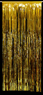 Astonia Paper Products Tinsel Curtain (Gold)