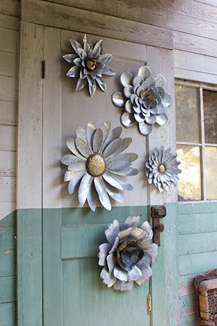 Kalalou Galvanized Wall Flowers organizedclutter.net