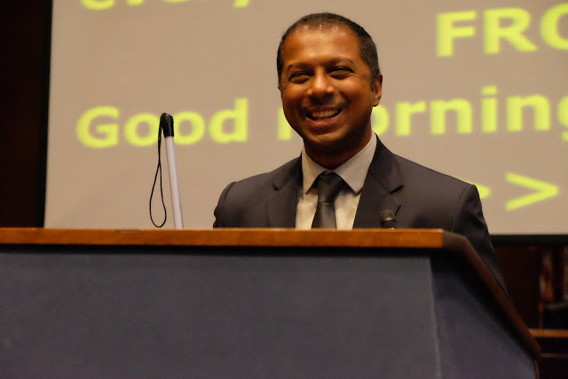 Sachiin Pavithran at the AUCD conference