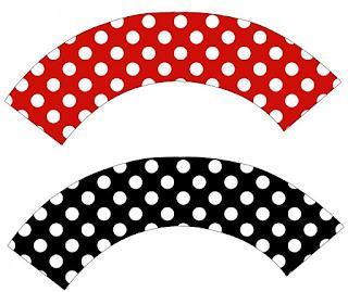 Fiesta de Mickey: Wrappers y Toppers para Cupcakes para Imprimir Gratis.