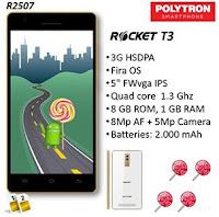 Polytron Rocket T3 R2507 Android lollipop dibawah 1 juta