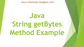 Java String getBytes