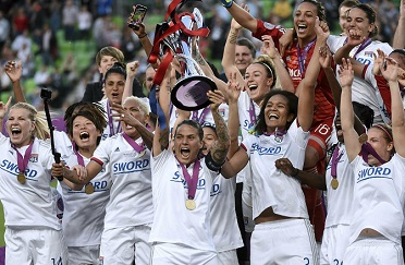 Lyon beats Barcelona 4-1 to win fourth straight Women's Champions League & 6th since 2011.