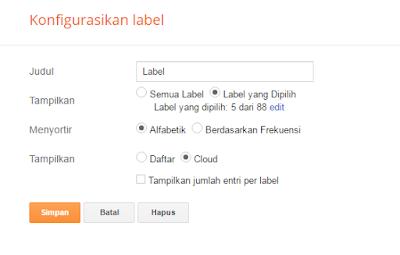 Cara pembuatan Label Di Blogger