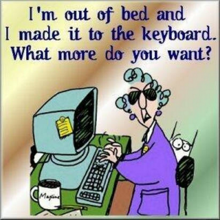 Funny Joke Quote: Chuck's Fun Page 2: Six Assorted, Vintage Maxine Cartoons