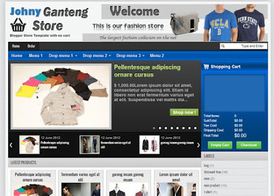 Johny Ganteng Cart - Online Shopping Store Blogger Template