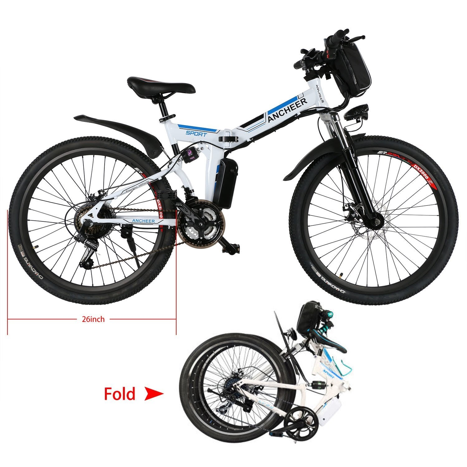 Health And Fitness Den Ancheer Electric Mountain Bikes