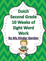 Dolch Second Grade 8 Weeks of Sight Word Work