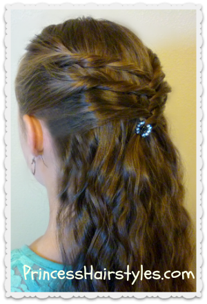 criss cross twists - hairstyle