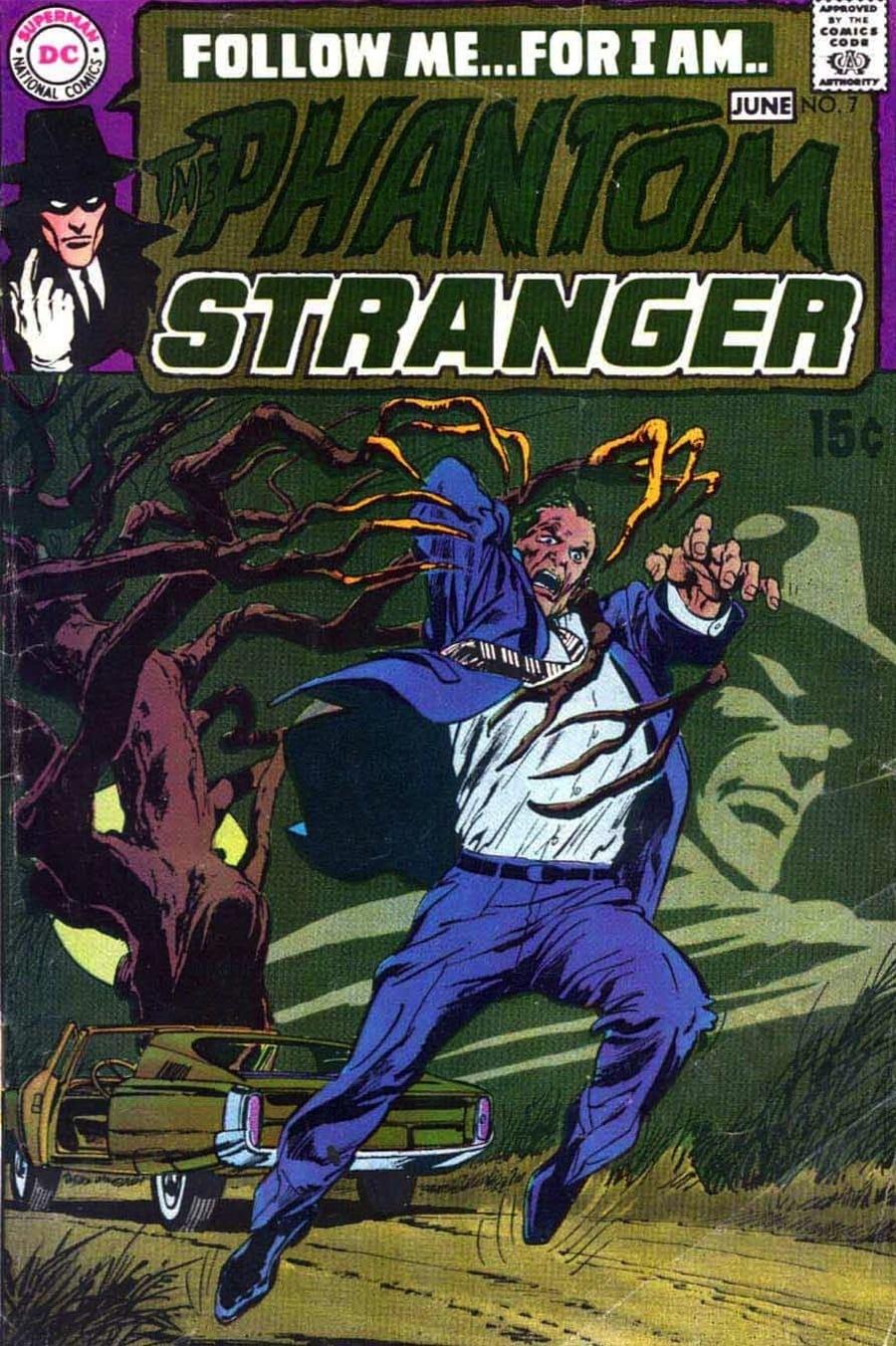 Phantom Stranger v2 #7 - 1970s dc horror comic book cover art by Neal Adams