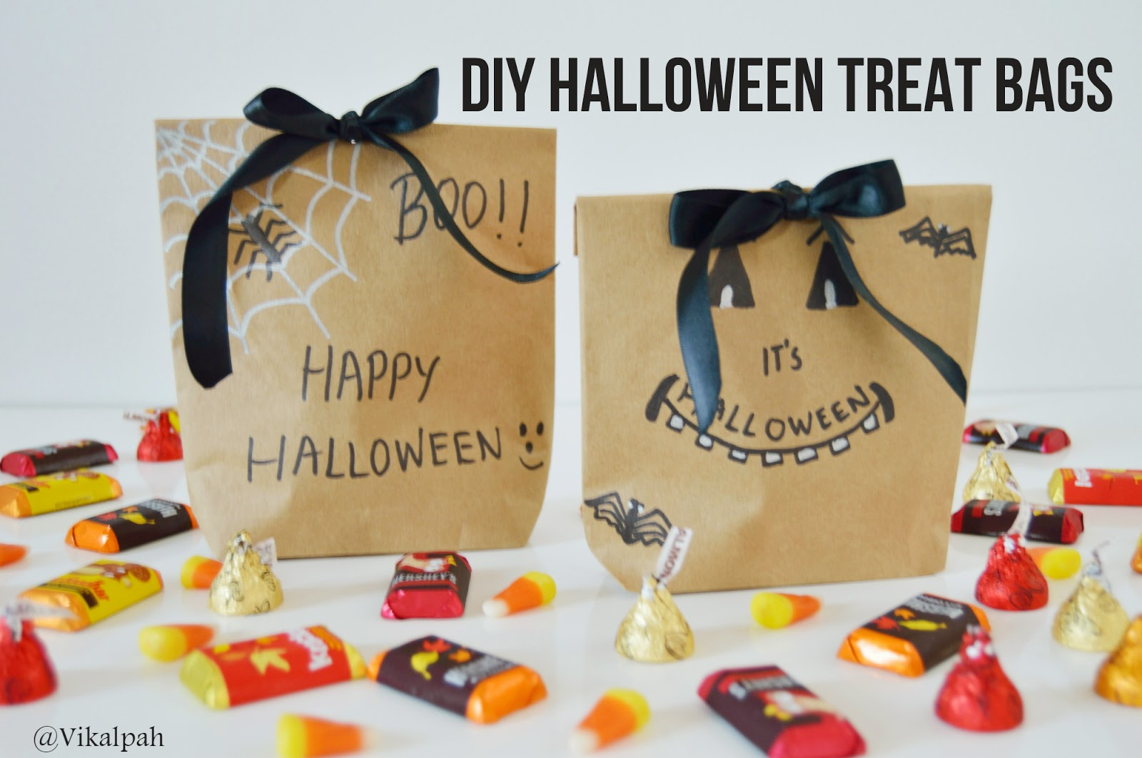 Vikalpah Last Minute Halloween Diys Treat Bags Decor Ideas