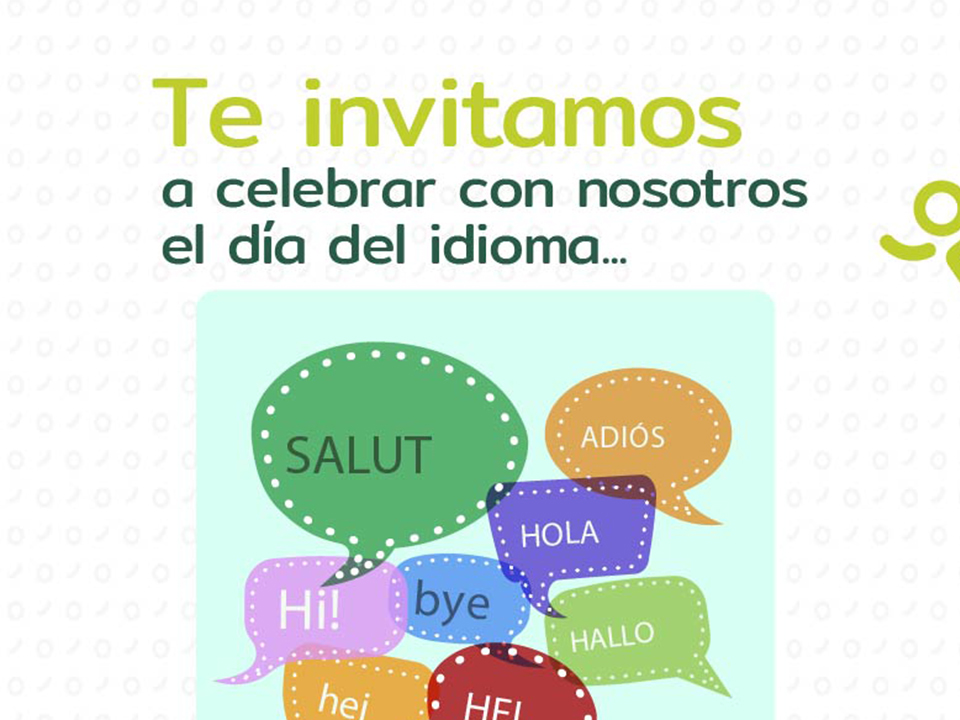 Invitación a celebrar el día del idioma en la Biblioteca Concertada ADIDA COMFENALCO