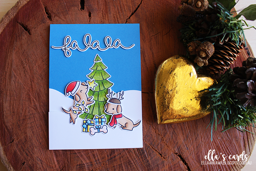 Christmas Card Series 2016 - Day Six (Video)   Ella\'s Cards