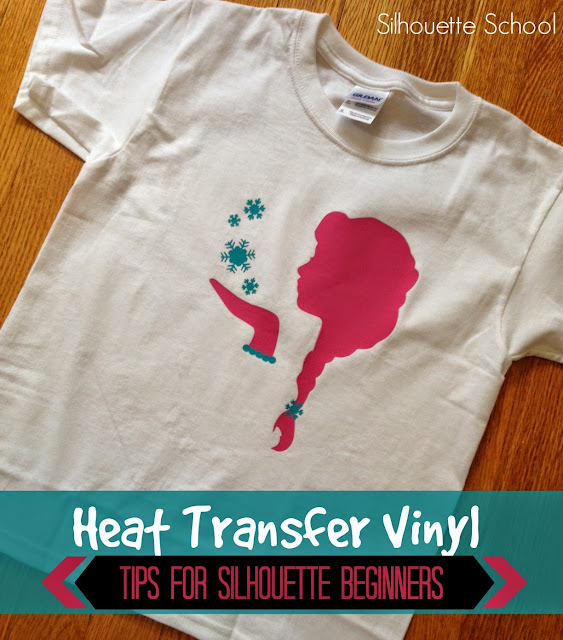 Heat transfer vinyl, HTV, tips, beginners, Silhouette tutorial, Silhouette Studio