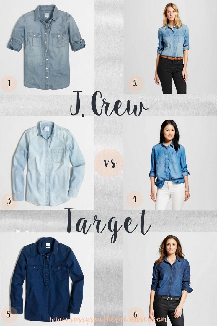 Chambray Showdown--J. Crew vs Target
