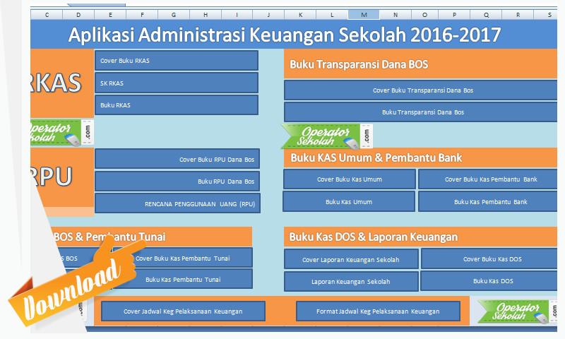 [Terbaru] Aplikasi Administrasi Keuangan Sekolah Lengkap 2016-2017 Ms. Excel
