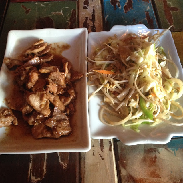 pork and vegetables at Mismukuno Cebu
