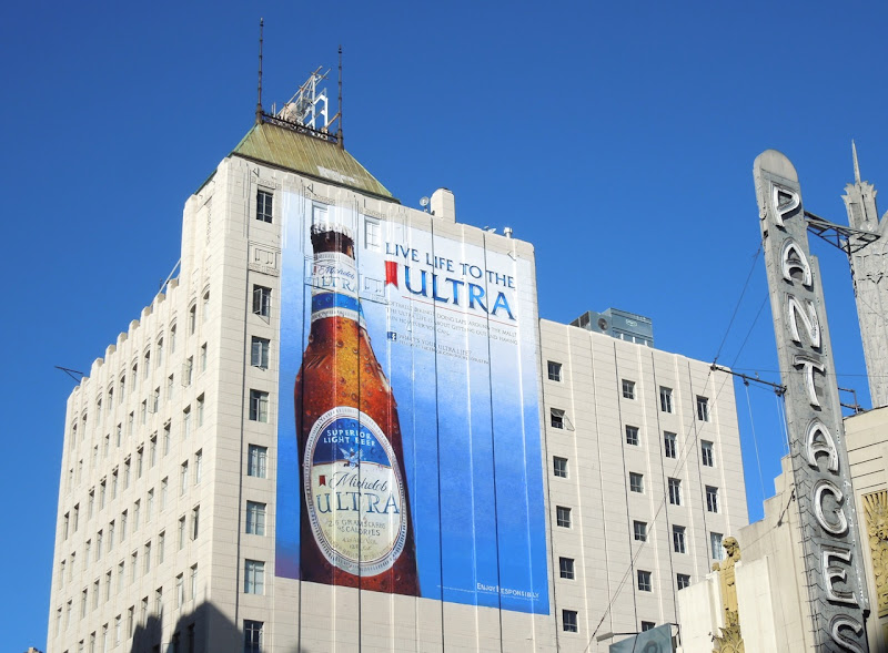 Live life to the Ultra Michelob beer billboard