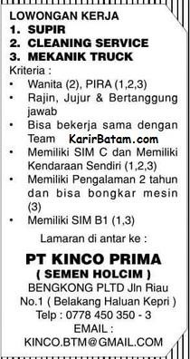 Lowongan Kerja PT. Kinco Prima