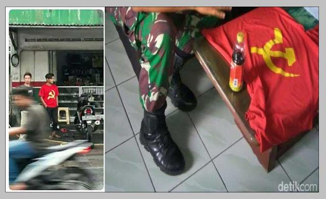 Ke Bengkel Pakai Kaos Palu Arit (PKI), Pemuda di Wonosobo Ini Diciduk TNI