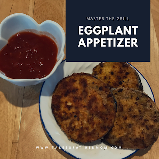 Try this tasty eggplant appetizer on the grill this summer for a quick snack with an easy cleanup. Easy to sneak this crispy delicious veggie on your kid's plates.